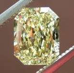 SOLD....1.51ct Fancy Light Yellow VVS1 Radiant Cut Diamond R7368