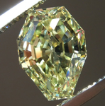 Loose Yellow Diamond: 2.06ct Fancy Intense Yellow SI1 Octagonal Step Cut Diamond GIA R7363