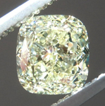 Loose Yellow Diamond: 1.09ct Fancy Light Yellow VS2 Cushion Cut Diamond GIA R7367