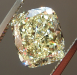 SOLD.....Loose Yellow Diamond: 2.51ct Y-Z VS1 Cushion Cut Diamond GIA R7358