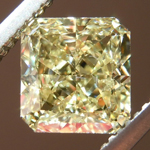 Loose Yellow Diamond: 1.24ct Fancy Yellow VS2 Radiant Cut Diamond GIA R7364