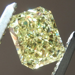 Loose Yellow Diamond: 1.01ct Fancy Intense Yellow SI1 Radiant Cut Diamond R7360