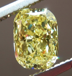 Loose Yellow Diamond: 1.01ct Fancy Intense Yellow I1 Cushion Cut Diamond GIA R7361