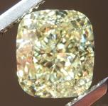 Loose Yellow Diamond: 1.50ct Fancy Yellow VS1 Cushion Cut Diamond GIA R7365