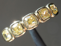 SOLD........Yellow Diamond Ring: .80ctw Fancy Intense Yellow VS-SI Cushion Cut Diamond Ring R7236