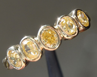 SOLD......Yellow Diamond Ring: .63ctw Fancy Intense Yellow VS Oval Modified Brilliant Diamond Ring R7313