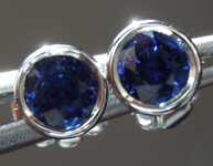 SOLD........Sapphire Earrings: .78ctw Blue Round Brilliant Sapphire Earrings R6716