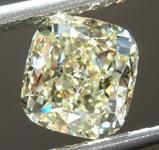 SOLD....Loose Yellow Diamond: 2.02ct W-X VVS1 Cushion Cut Diamond GIA R7443