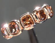 SOLD...1.70ctw Deep Brownish Yellow VS Cushion Cut Diamond Ring R7407