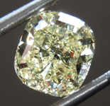 SOLD.......Loose Yellow Diamond: 1.11ct Fancy Light Yellow Internally Flawless Cushion Mixed Cut Diamond GIA R7442