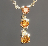 Orange Diamond Pendant: .30ctw Fancy Deep Orangey Brown SI1 Round Brilliant Diamond Necklace R7381