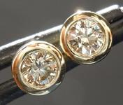 SOLD....0.39ctw S-T VS Round Brilliant Diamond Earrings R7434