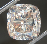 Loose Brown Diamond: 5.31ct Fancy Light Yellowish Brown SI2 Cushion Cut Diamond R7470