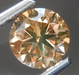 Loose Brown Diamond: 1.00ct Fancy Brownish Yellow SI1 Round Brilliant Diamond GIA R7457