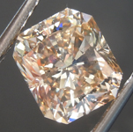 Loose Brown Diamond: 3.45ct Fancy Light Yellowish Brown SI2 Radiant Cut Diamond GIA R7474