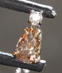 SOLD........Brown Diamond Necklace: .33ct Fancy Brownish Yellow Pear Shape Diamond Necklace R7348