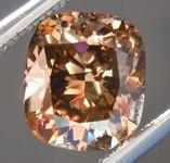 SOLD........Loose Brown Diamond: 1.19ct Fancy Deep Brown SI1 Cushion Cut Diamond R7491