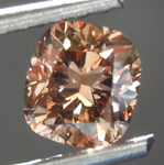 SOLD........Loose Brown Diamond: 1.03ct Fancy Deep Orangy Brown I1 Cushion Cut Diamond R7497