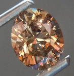 Loose Brown Diamond: 1.01ct Fancy Deep Brown SI Oval Brilliant Cut Diamond R7499