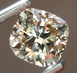 Loose Brown Diamond: 1.01ct Fancy Light Brown SI1 Cushion Cut Diamond R7495