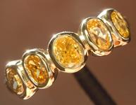 Orange Diamond Ring: .67ctw Fancy Deep Orangy Brown Oval Diamond Ring R7421