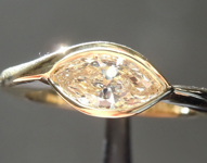 Yellow Diamond Ring: .54ct U-V SI1 Marquise Diamond Ring R7393