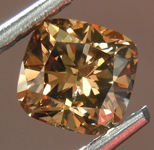 Loose Brown Diamond: 1.03ct Fancy Deep Orange Brown I1 Cushion Cut Diamond R7496