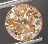 Loose Diamond: 2.16ct Fancy Orange Brown I2 Round Brilliant Diamond R7519