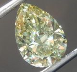 SOLD.......Loose Diamond: 2.12ct Fancy Grayish Greenish Yellow SI2 Pear Shape Diamond GIA R7518