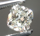 Loose Colorless Diamond: .44ct J VVS1 Cushion Brilliant Diamond GIA R7508