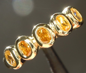 0.50ctw Natural Orangy Yellow VS Oval Diamond Ring R7417