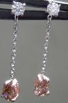 0.46cts Brownish Yellow Pear Diamond Earrings R7412