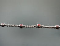 1.76ctw Oval Brilliant Ruby Bracelet R7429