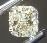 Loose Yellow Diamond: .47ct Fancy Light Yellow VS1 Cushion Cut Diamond R7533