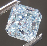 1.01ct  Bluish Green SI2 Radiant Cut Diamond R7485