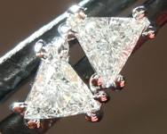 SOLD...Colorless Diamond Earrings: .40ctw F-G VS Trilliant Diamond Earrings R7271