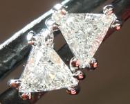 SOLD...Colorless Diamond Earrings: .40ctw F-G VS Trilliant Diamond Earrings R7271
