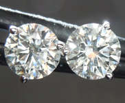Colorless Diamond Earrings: 1.00ctw H-I SI1 Round Brilliant Diamond Earrings AGS graded R7548