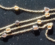 Brown Diamond Necklace: 11.55ctw Natural Brown Diamonds by the Yard Necklace R7482