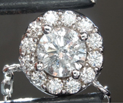 Diamond Pendant: .55ct K I2 Round Brilliant Diamond Halo Pendant R6819