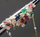 Necklace: 2.92 ctw Sapphire, Ruby, Emerald, and Diamond Necklace R7475