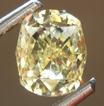 Loose Yellow Diamond: .78ct Fancy Yellow SI1 Cushion Modified Brilliant Diamond R7506