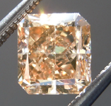 Loose Brown Diamond: 1.01ct Dark Orangy Brown SI1 Radiant Cut Diamond GIA R7065