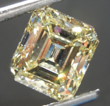 Loose Yellow Diamond: 2.63ct Fancy Yellow VS1 Emerald Cut Diamond GIA R7573