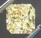 Loose Yellow Diamond: 1.15ct Fancy Yellow I2 Radiant Cut Diamond GIA R7574