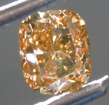 Loose Diamond: .55ct Fancy Brown Orange VS1 Cushion Cut Diamond GIA R7539
