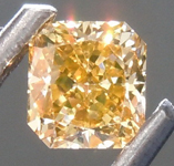Loose Yellow Diamond: .38ct Fancy Deep Brown Yellow SI2 Radiant Cut Diamond GIA R7551