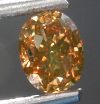 Loose Orange Diamond: .62ct Fancy Orange Brown VS1 Oval Modified Brilliant Diamond GIA R7538