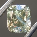 Loose Diamond: .90ct Fancy Dark Greenish Gray I1 Cushion Brilliant Diamond GIA R7568