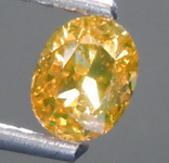 Loose Orange Diamond: .65ct Fancy Deep Brownish Orange Yellow SI2 Oval Diamond GIA R7567